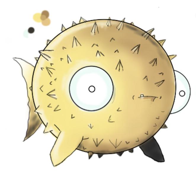 Derp Pufferfish By Monicathefriend