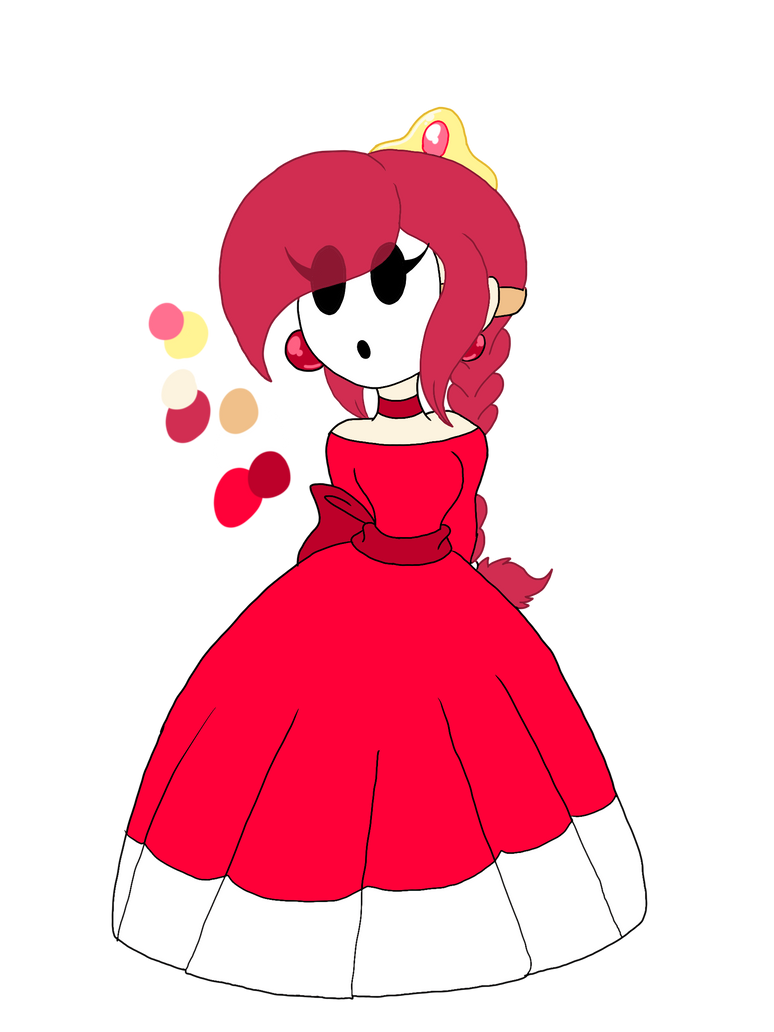 Mario oc: Princess Sheila Of Shy guys by Smileverse