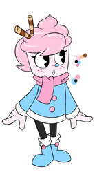 Cuphead Oc: Lyna Cream Marshmallow by Smileverse