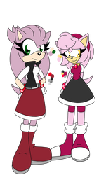 SONIC ADOPTS: SILVER X AMY TWINS CLOSED by Smileverse