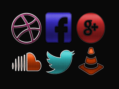 Detailed Social Media Icons by sammi879