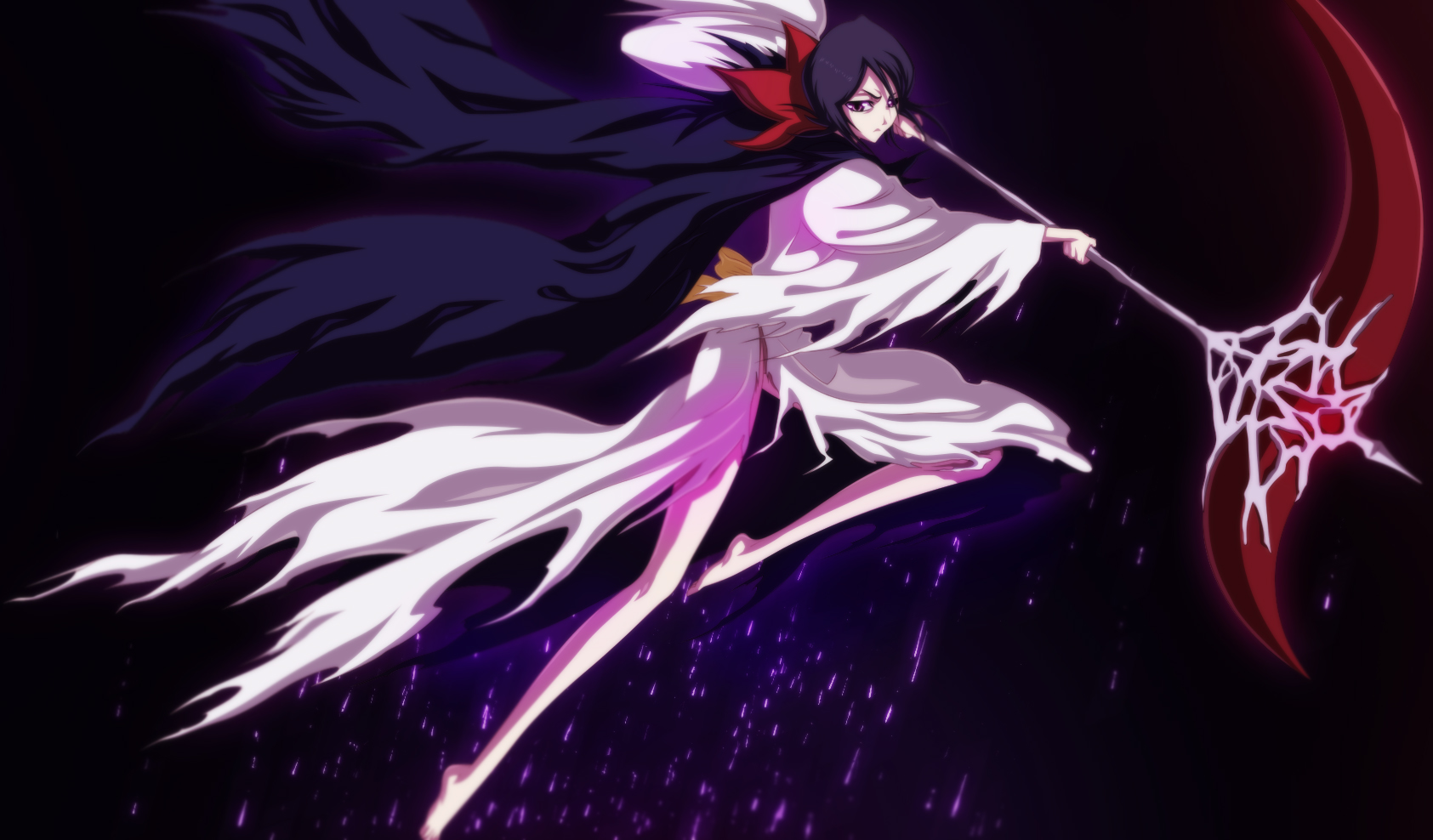 Dark Rukia Commission by Eroishi