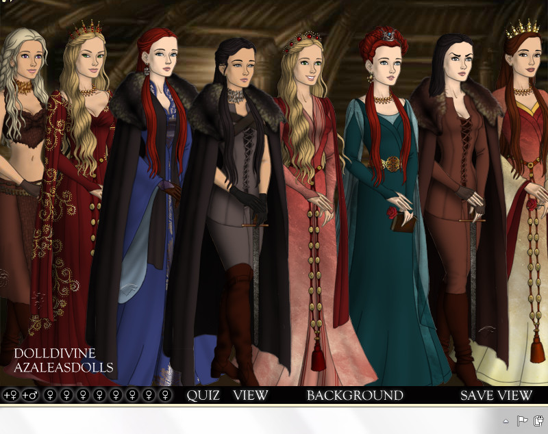 The Game Of Thrones - Ladies by WillowTreeWitch on DeviantArt