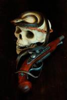 Snake,Skull and Pistol