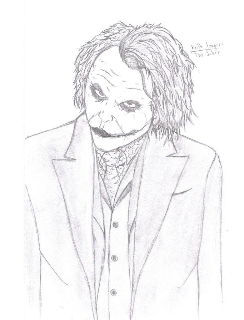 The Joker Line Art : Heath ledger the joker by keisukesouk on deviantart