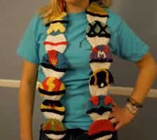 +UPDATED+ Pokeball Scarf by Not-quite-Alice