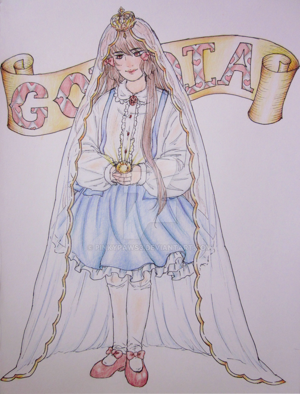 The Name Bathed in Gold by pinkypaws3