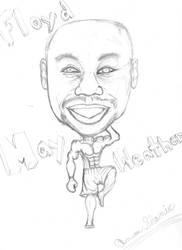 Floyd Mayweather Caricature by devilswillbeburned12