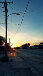 Gas Station Sunset