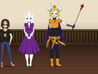 PONYTALE 2018 Redesigns - Toriel + Asgore Dreemurr by JackP8414