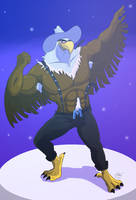 Mighty eagle in imagination muscle version by husky50