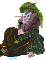 Willowheart and Rhaeyth by KimberlySwan