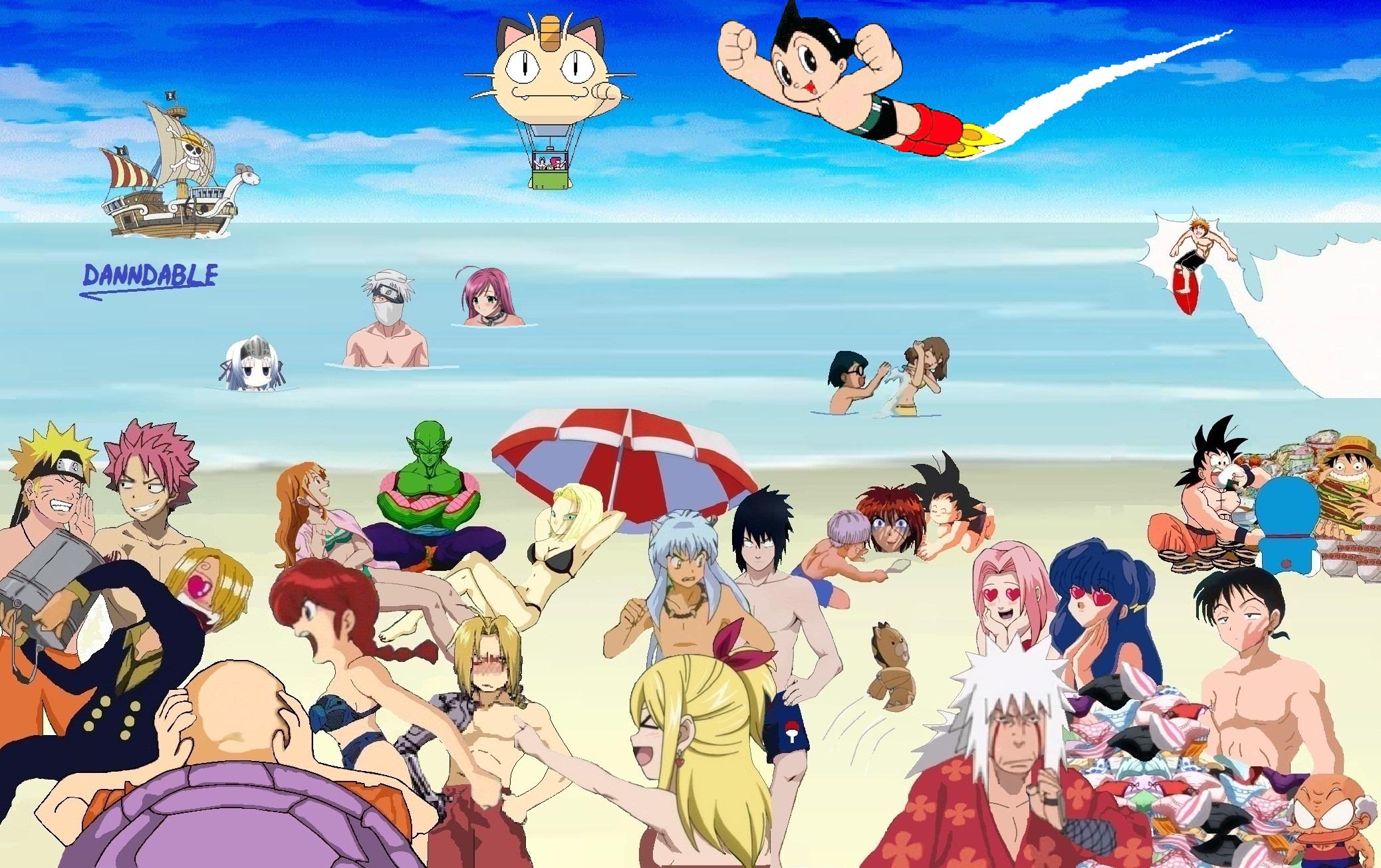 anime beach porn