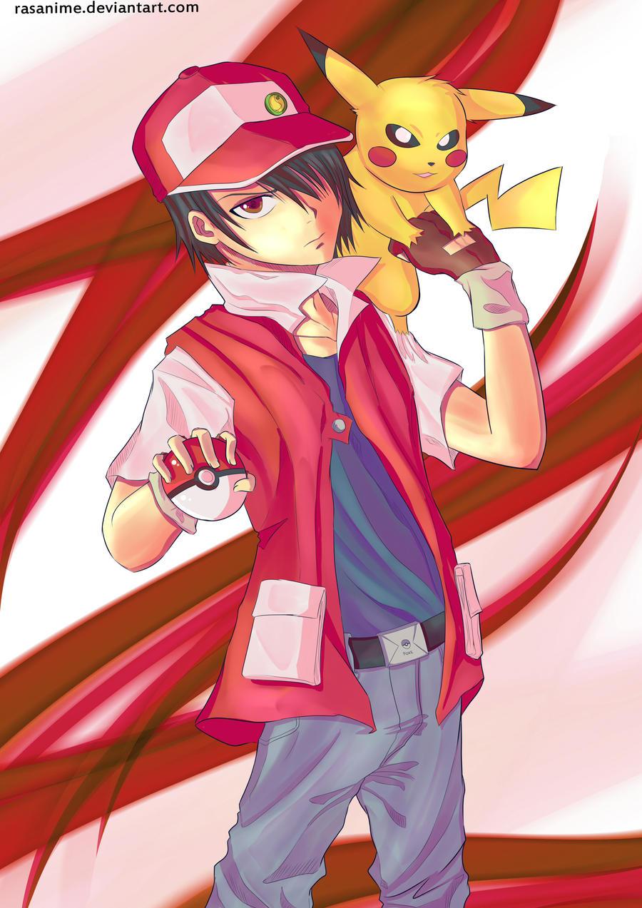 pokemon trainer red by rasanime on deviantart