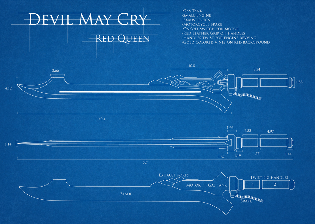 Dmc4 Red Queen Blueprint By Tarasqueproductions On Deviantart Katana Engine Diagram
