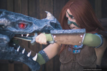 Skyrim - Aela the Huntress by TarasqueProductions
