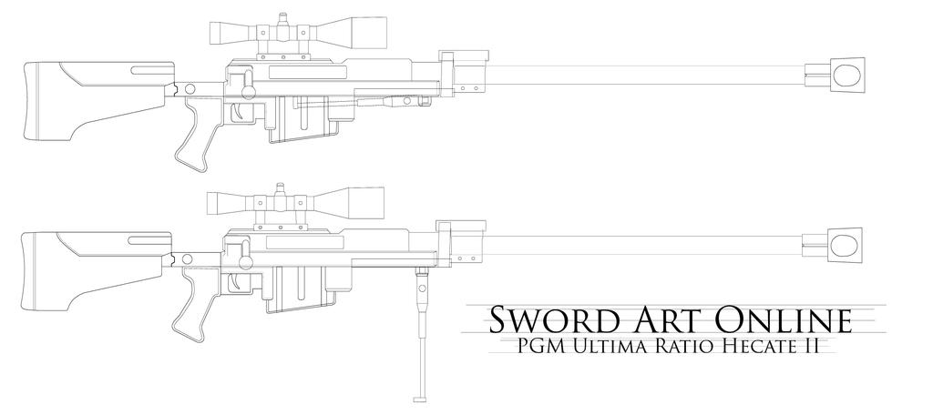 Sao Ggo Hecate Ii Sniper Rifle Blueprint By