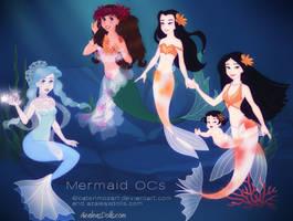 Mermaid OCs by Madame-Mozart