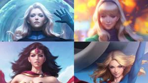 Susan, Gwen, Diana, Kara