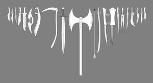 Weapons Collection White Scale 2