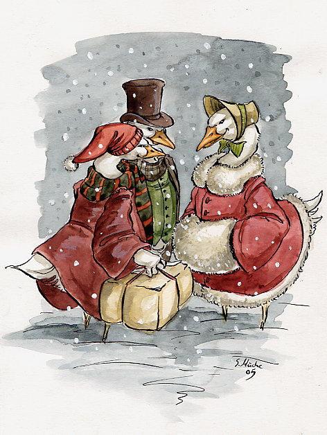 christmas card by cidaq