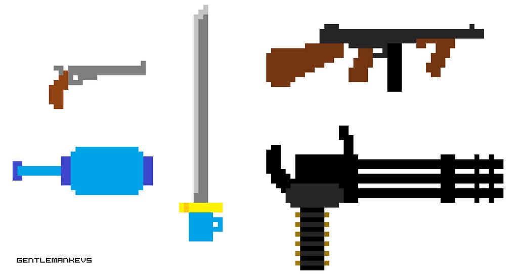 Minimalistic Weapons by gentlemankevs