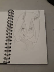 Cute girl with horns by Nobber13