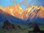 Sunrise Mount Whitney 36x48 oil