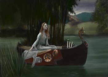 Lady of Shalotte by John William Waterhouse