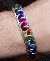 Rainbow Viper Basket Bracelet by DFLT18