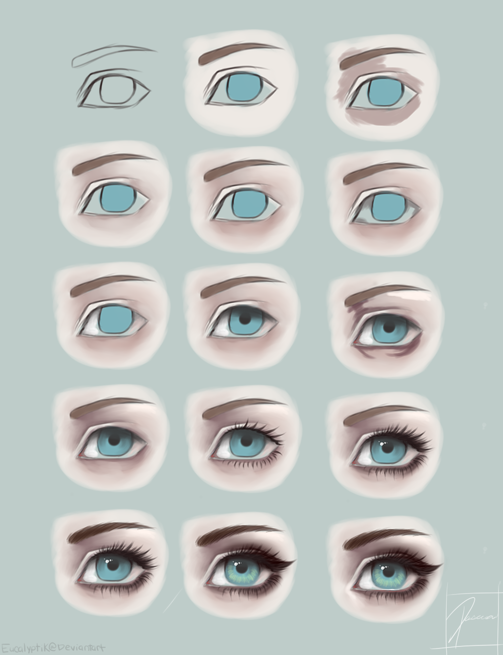 how to draw tears in sai