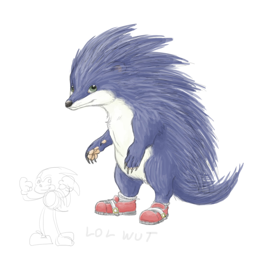 Sonic The Hedgehog Realistic By Jaylina On Deviantart