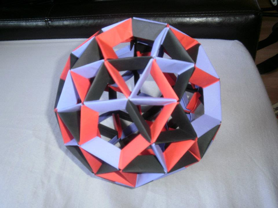 Dodecahedron Instructions with A6 paper | 720x960