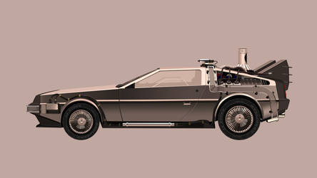 Delorean Back To The Future by khiunngiap