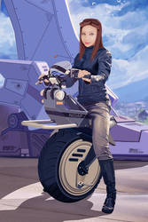 Monocycle  and Elaine by khiunngiap