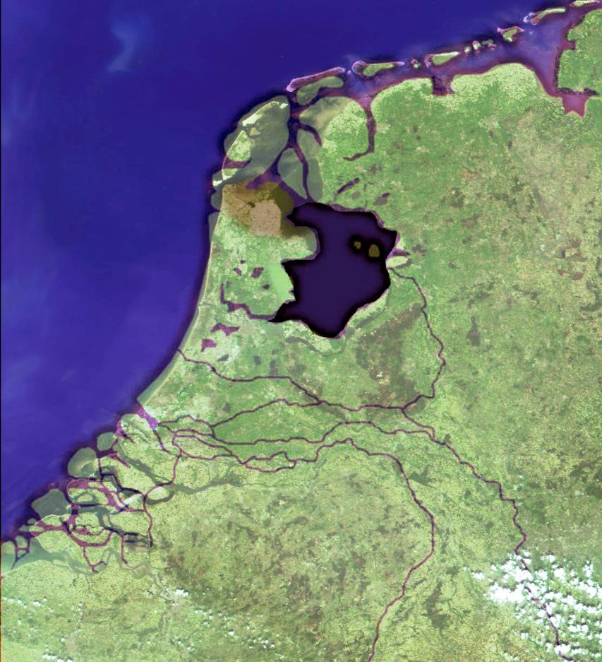 'Satellite image' of the Netherlands 100 A.D. by rashiddo