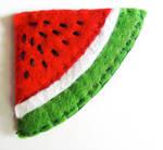 Watermelon felt bookmark