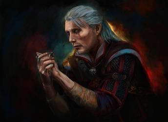 Witcher Mads Mikkelsen by FoxyAnt