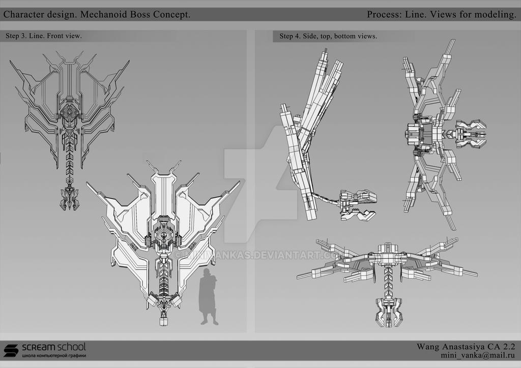 Skyforge Mechanoid Boss Concept. Part 1 by MinIVankas