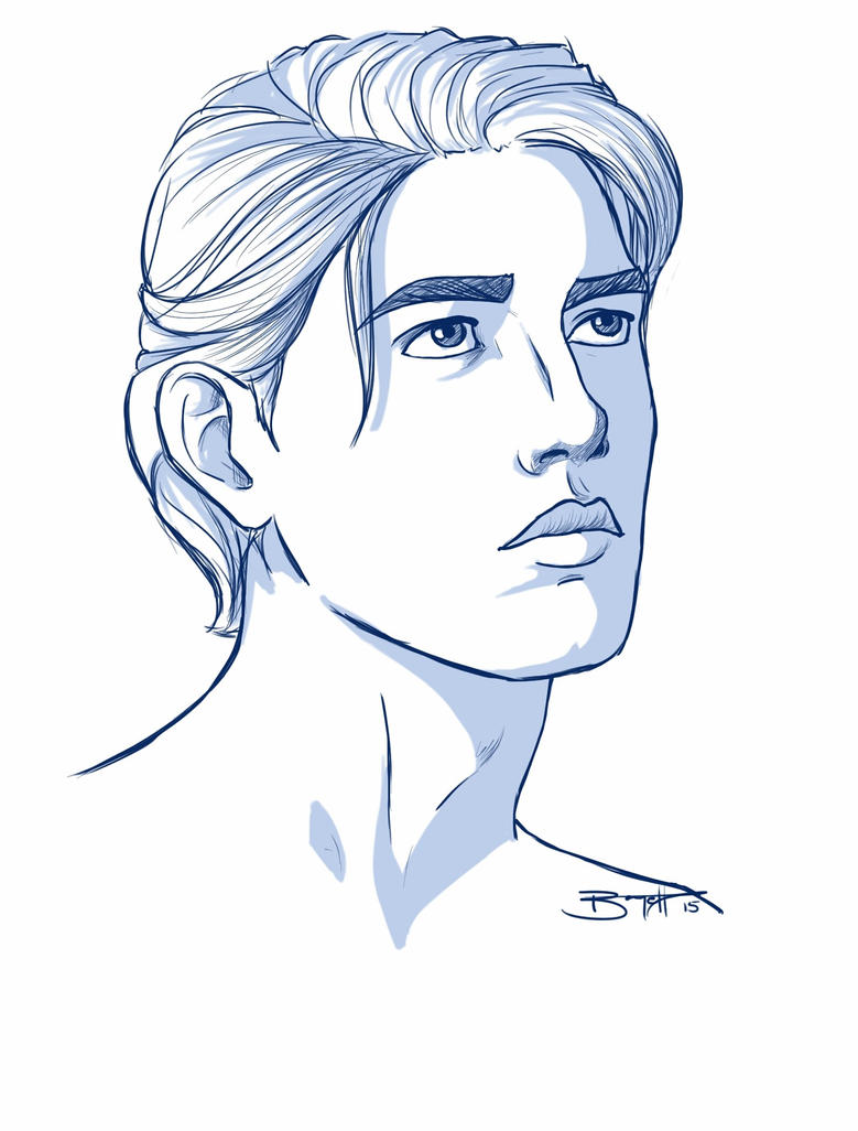 Line Drawing Human Face : Sketch male face by t ofie on deviantart