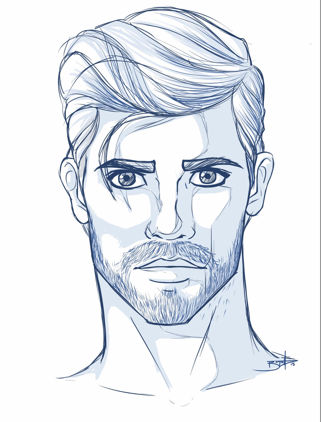 mans face drawing sketch 2015 male face 2 by t0ofie on deviantart 5925