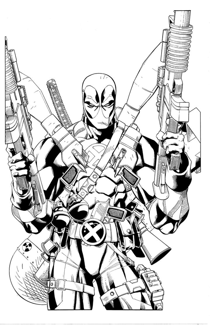 dead pool coloring pages - deadpool fully loaded by antalas on deviantart