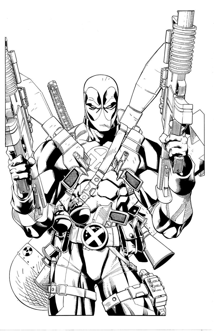 Deadpool fully loaded by antalas on DeviantArt