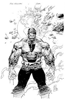 Silvestri Hulk cover inks