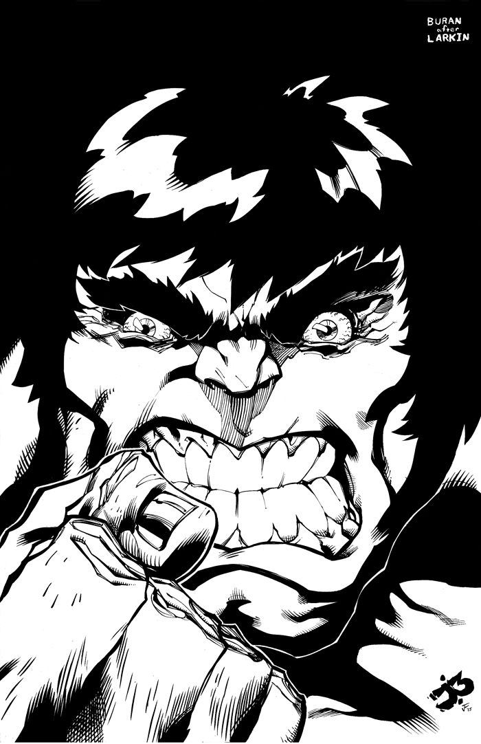 Hulk Commission Inks by antalas
