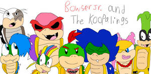 RQ Bowser Jr. and the koopalings