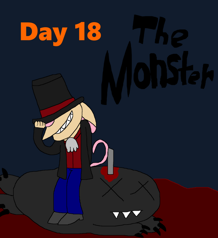 Rentober Day 18 The Monster by IzaStarArtist17
