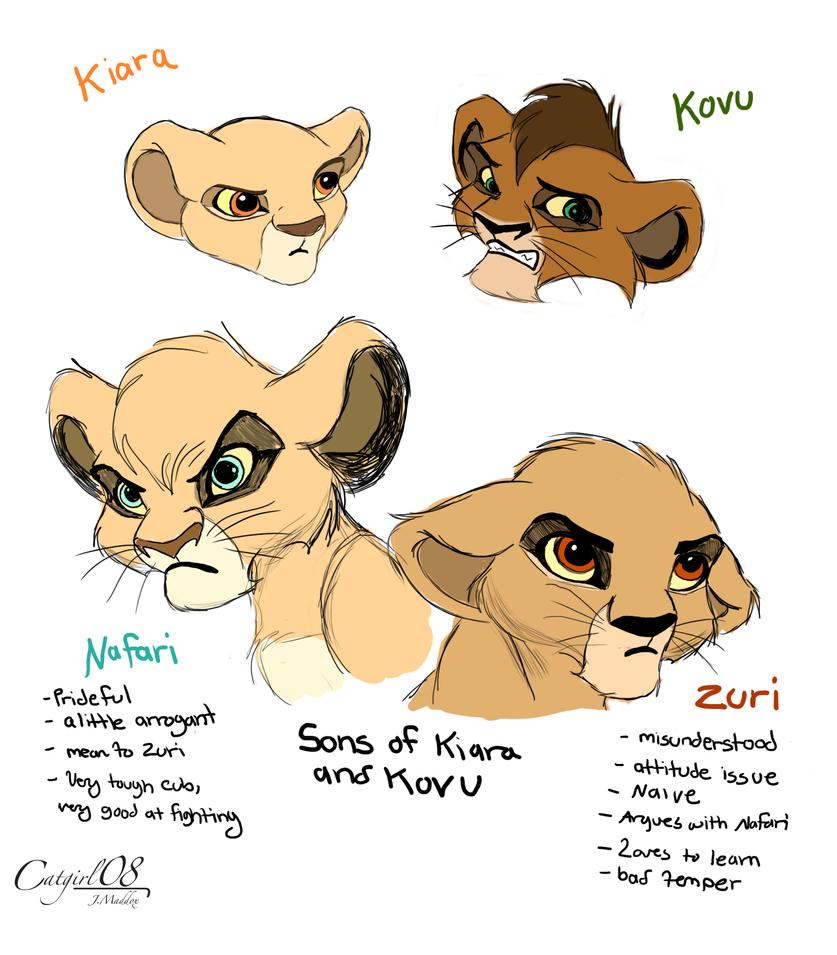 Kovu and Kiara's cubs rough sketch by Catgirl08