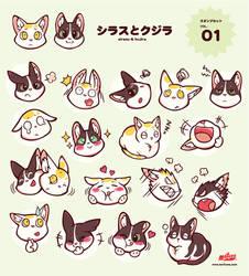 Sirasu and kujira stamp set vol.01 by mofuwa