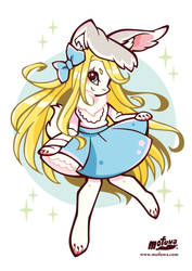Lilly the white bunny by mofuwa
